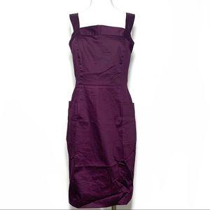 Chetta B Sleeveless Sheath Dress W Pockets